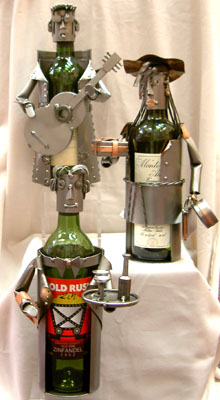 metal wine caddies